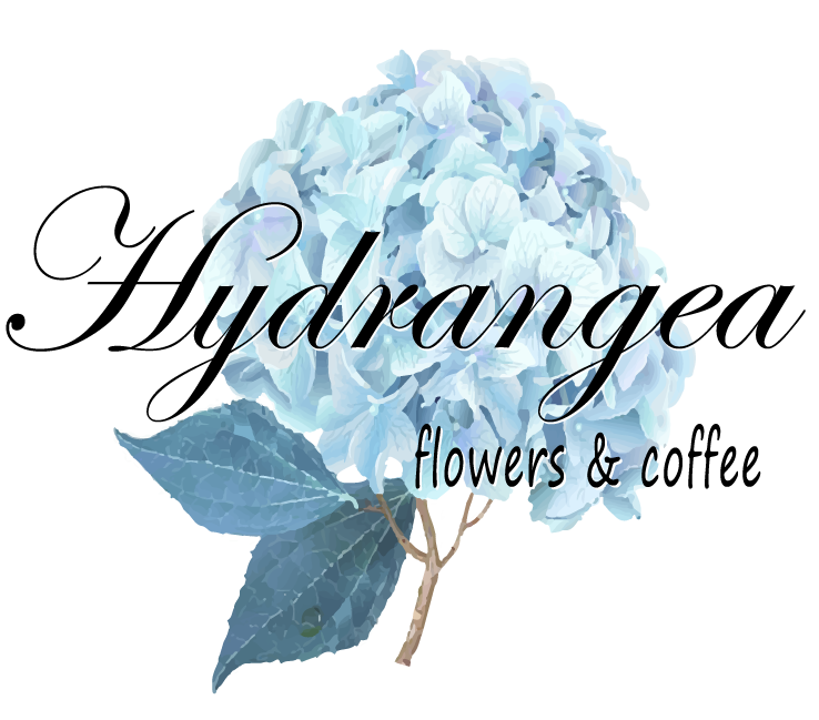 Hydrangea Flowers and Coffee logo